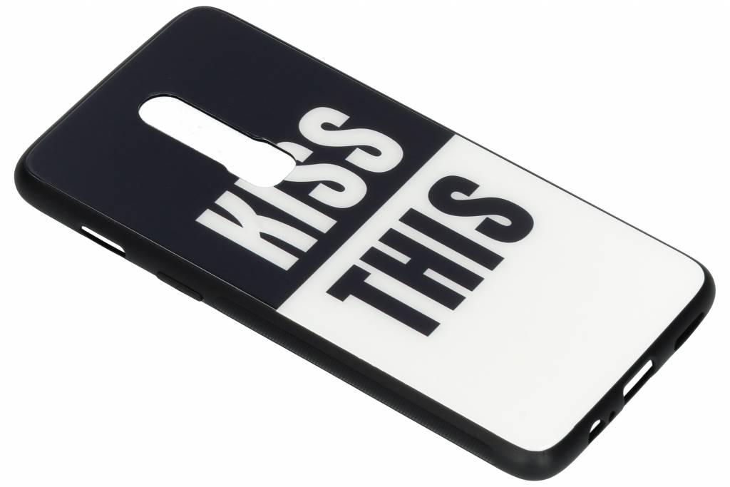 Kiss this design glazen hardcase voor de OnePlus 6