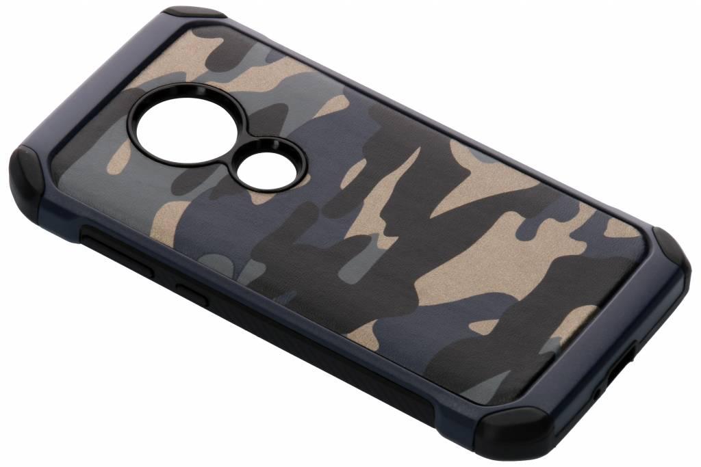 Blauwe army defender hardcase hoesje voor de Motorola Moto E5 / Moto G6 Play
