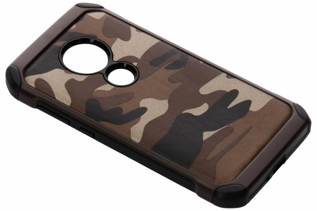 Bruine army defender hardcase hoesje voor de Motorola Moto E5 / Moto G6 Play