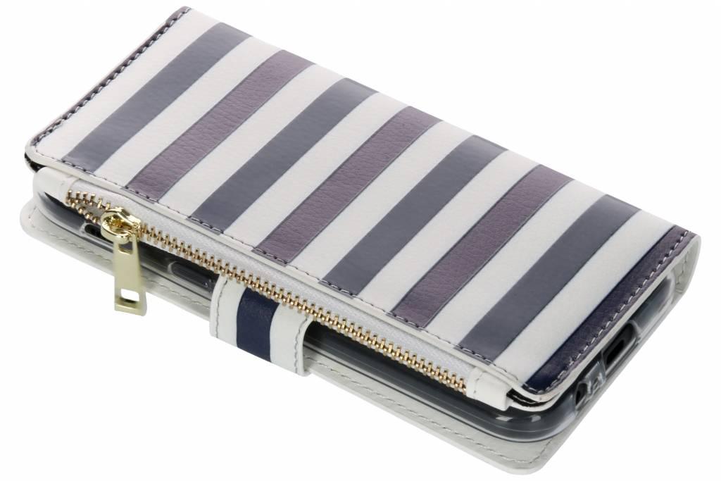 Stripes Blue design luxe portemonnee hoes voor de Samsung Galaxy A5 (2017)
