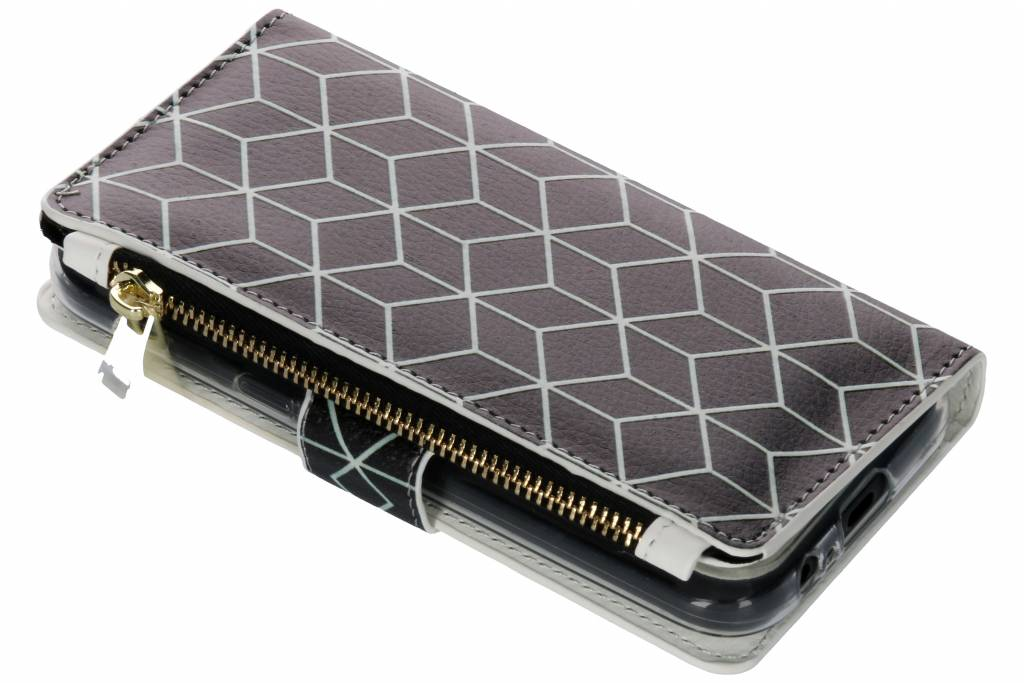 Cubes Black design luxe portemonnee hoes voor de Samsung Galaxy A5 (2017)