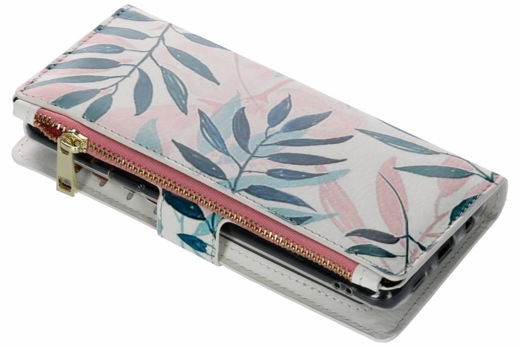 Gekleurde bladeren design luxe portemonnee hoes voor de Samsung Galaxy S9 Plus