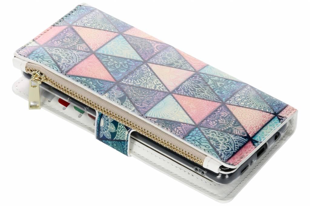 Triangels design luxe portemonnee hoes voor de Samsung Galaxy S9 Plus