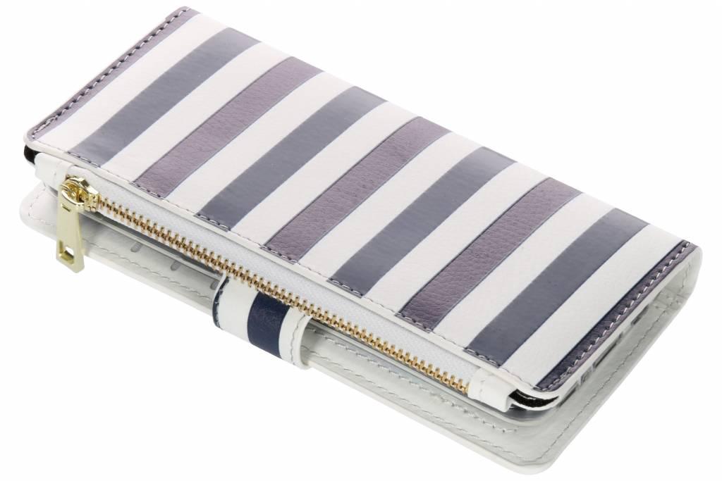 Stripes Blue design luxe portemonnee hoes voor de Samsung Galaxy S8