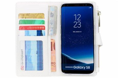 Design Luxe Portemonnee voor Samsung Galaxy S8 - Stripes Blue