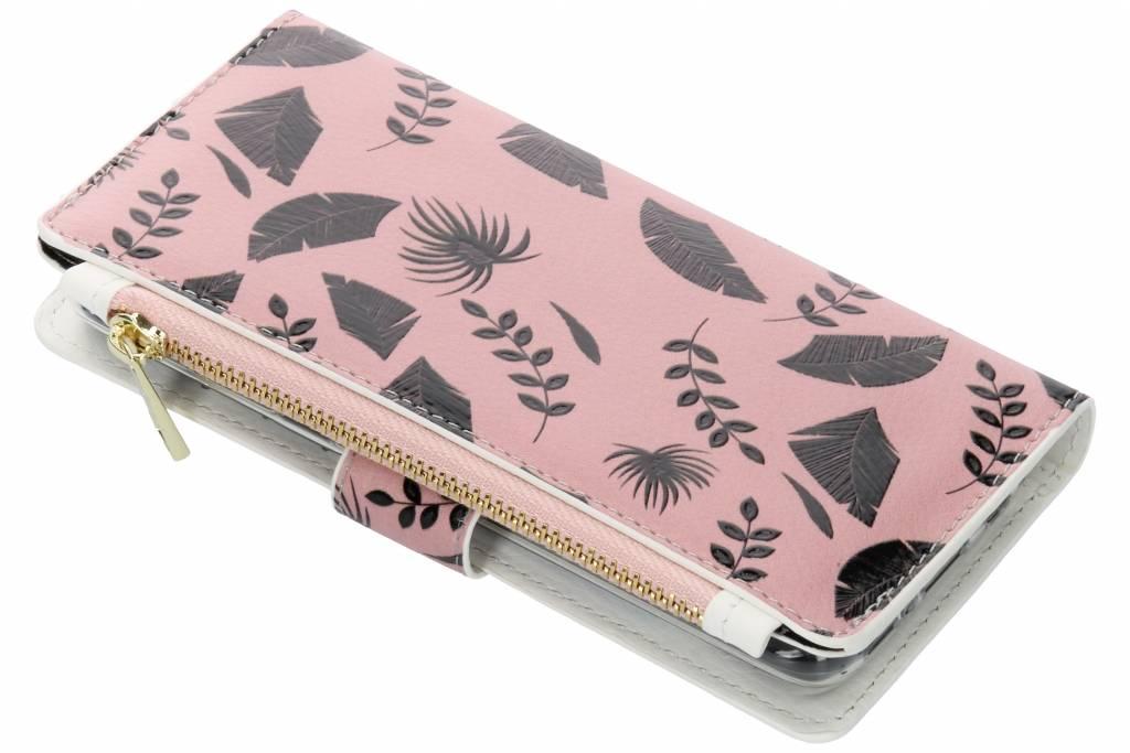 Design Luxe Portemonnee voor Samsung Galaxy S8 - Leafs Zwart