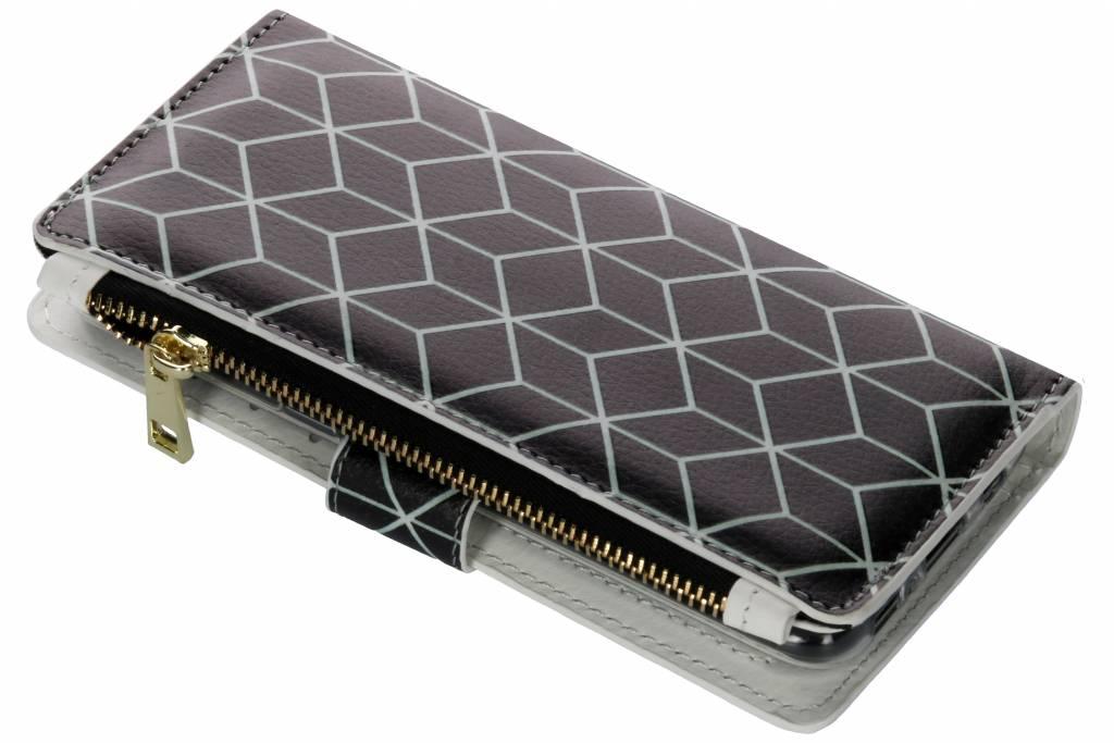 Cubes black design luxe portemonnee hoes voor de Samsung Galaxy S8
