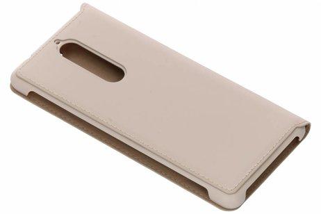 Nokia Slim Flip Cover voor Nokia 5.1 - Beige