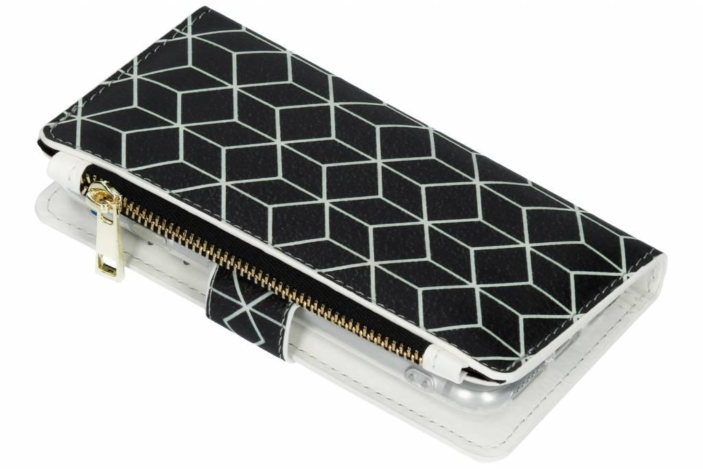 Cubes Black design luxe portemonnee hoes voor de iPhone 8 / 7