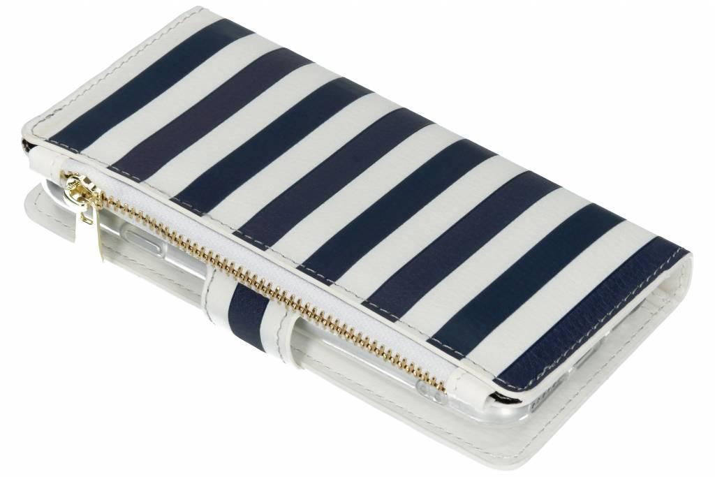 Design Luxe Portemonnee voor iPhone 8 / 7 - Stripes Blue