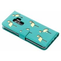 Flamingo Softcase Booktype Samsung Galaxy S9 Plus - Groen