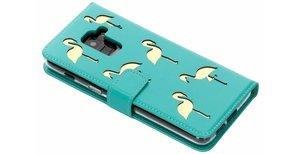 Flamingo Softcase Booktype Samsung Galaxy A8 (2018) - Groen