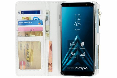 Design Luxe Portemonnee voor Samsung Galaxy A6 Plus (2018) - Smile
