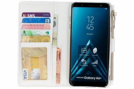 Samsung Galaxy A6 Plus (2018) hoesje - Design Luxe Portemonnee voor