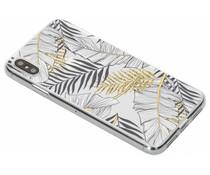 Botanic design siliconen hoesje iPhone Xs Max
