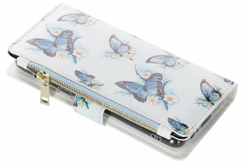 Vlinders design luxe portemonnee hoes voor de Samsung Galaxy A8 (2018)
