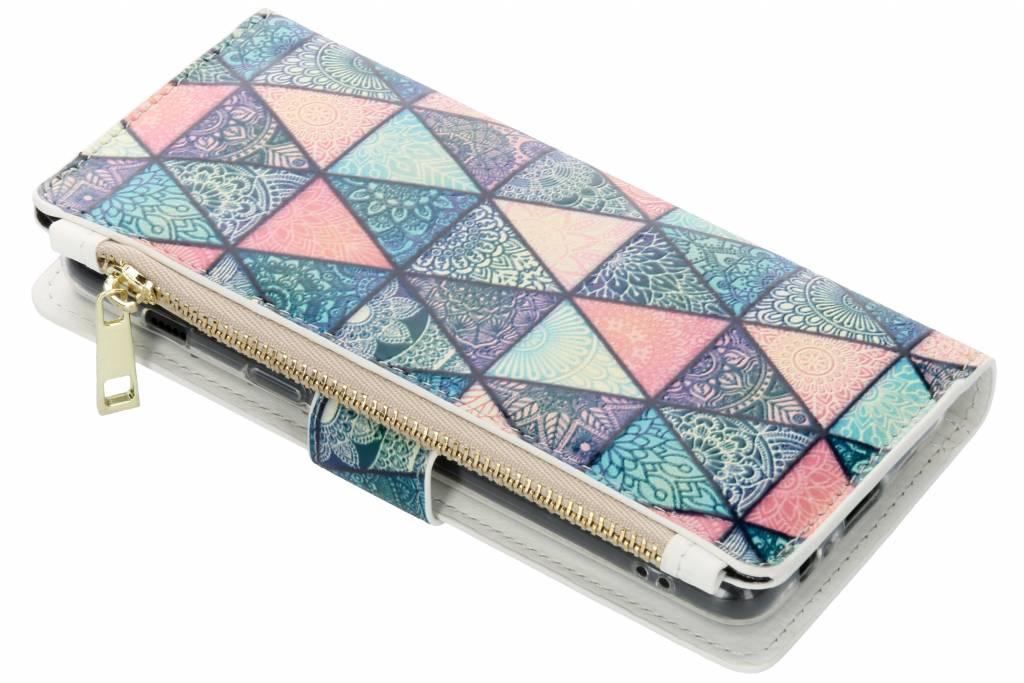 Triangels design luxe portemonnee hoes voor de Samsung Galaxy A8 (2018)