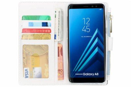 Design Luxe Portemonnee voor Samsung Galaxy A8 (2018) - Smile
