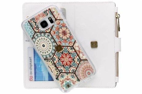 Design Luxe Portemonnee voor Samsung Galaxy S7 Edge - Hippie