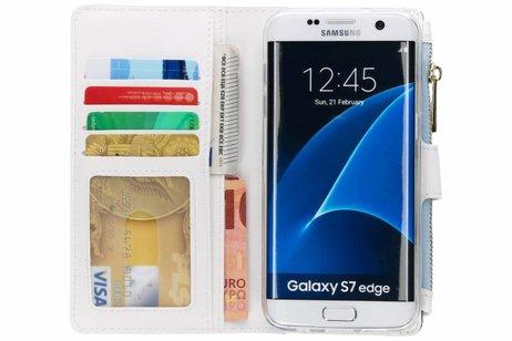 Design Luxe Portemonnee voor Samsung Galaxy S7 Edge - Vlinders