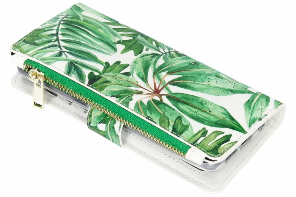 Bladeren design luxe portemonnee hoes voor de Samsung Galaxy S7 Edge