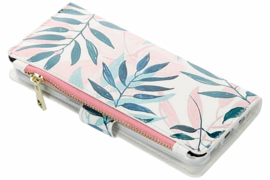 Design Luxe Portemonnee voor Samsung Galaxy S7 Edge - Bladeren
