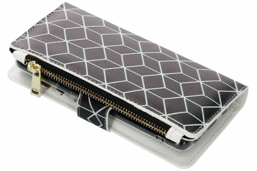 Cubes Black design luxe portemonnee hoes voor de Samsung Galaxy S9
