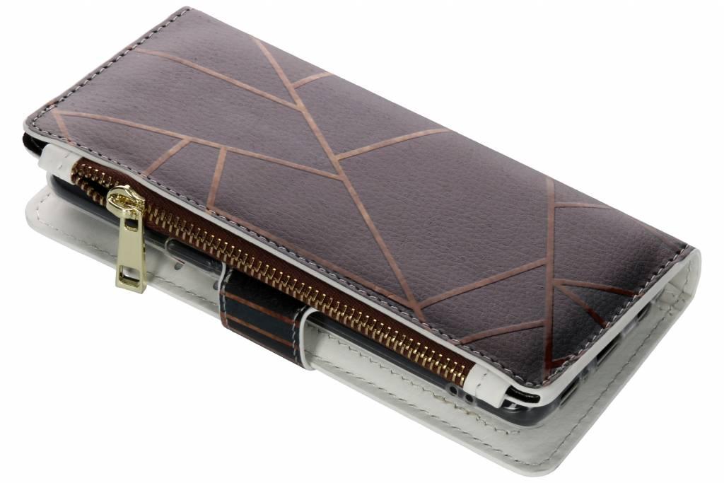 Design Luxe Portemonnee voor Samsung Galaxy S9 - Grafisch Zwart / Koper