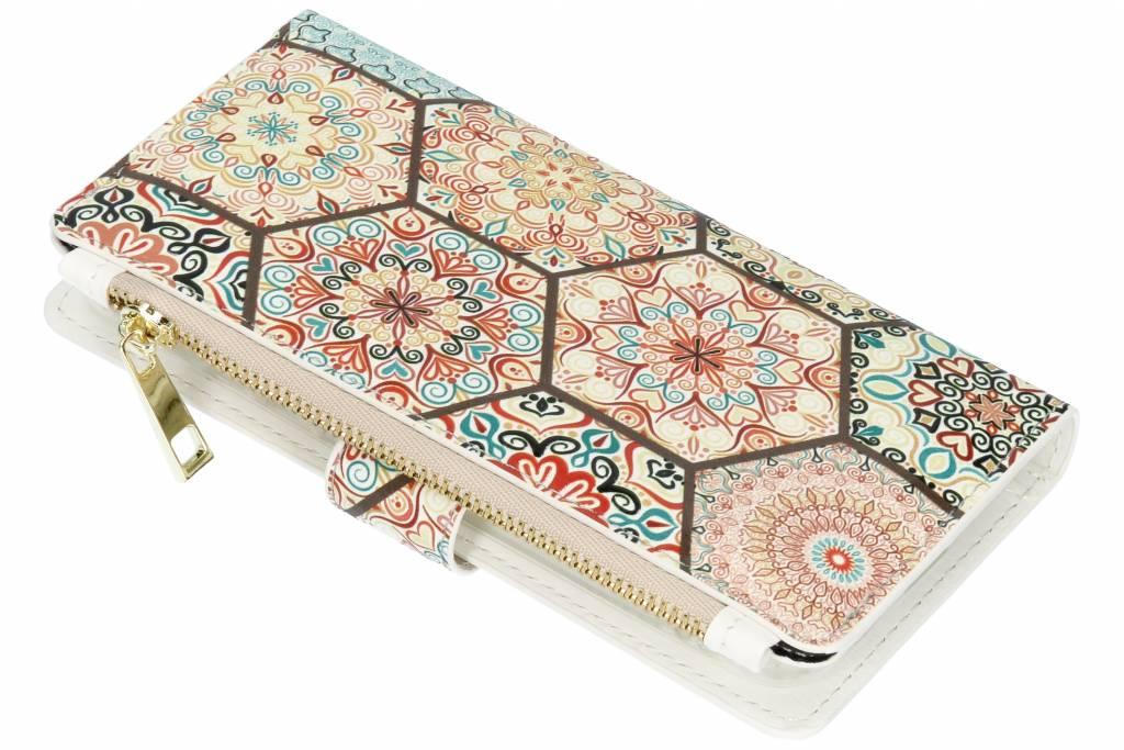 Design Luxe Portemonnee voor Samsung Galaxy A6 (2018) - Hippie