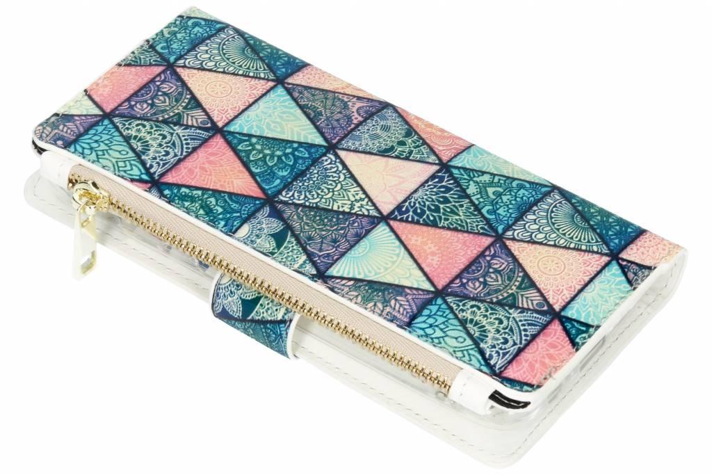 Design Luxe Portemonnee voor Samsung Galaxy A6 (2018) - Grafisch Triangels