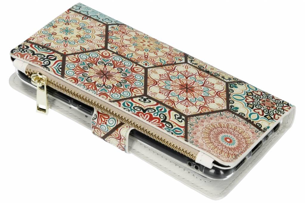 Festival design luxe portemonnee hoes voor de Huawei P Smart