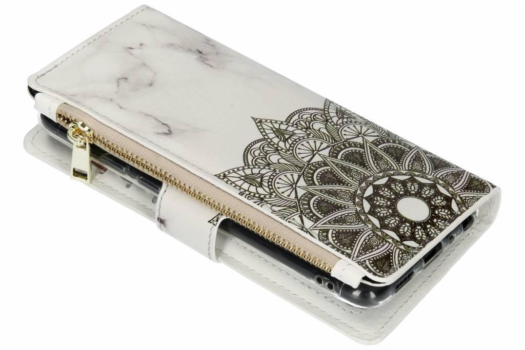 Mandala marmer design luxe portemonnee hoes voor de Huawei P Smart