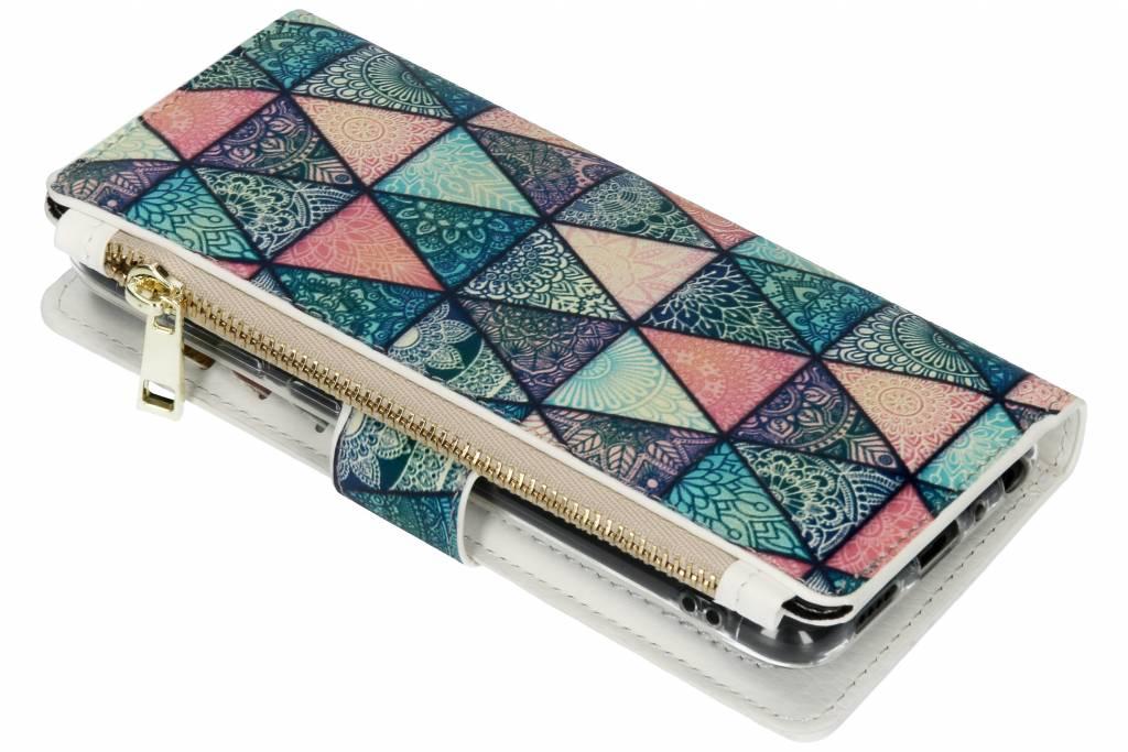 Triangels design luxe portemonnee hoes voor de Huawei P Smart