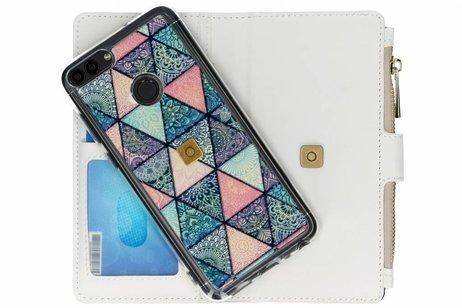 Design Luxe Portemonnee voor Huawei P Smart - Grafisch Triangels