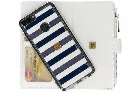 Design Luxe Portemonnee voor Huawei P Smart - Stripes Blue