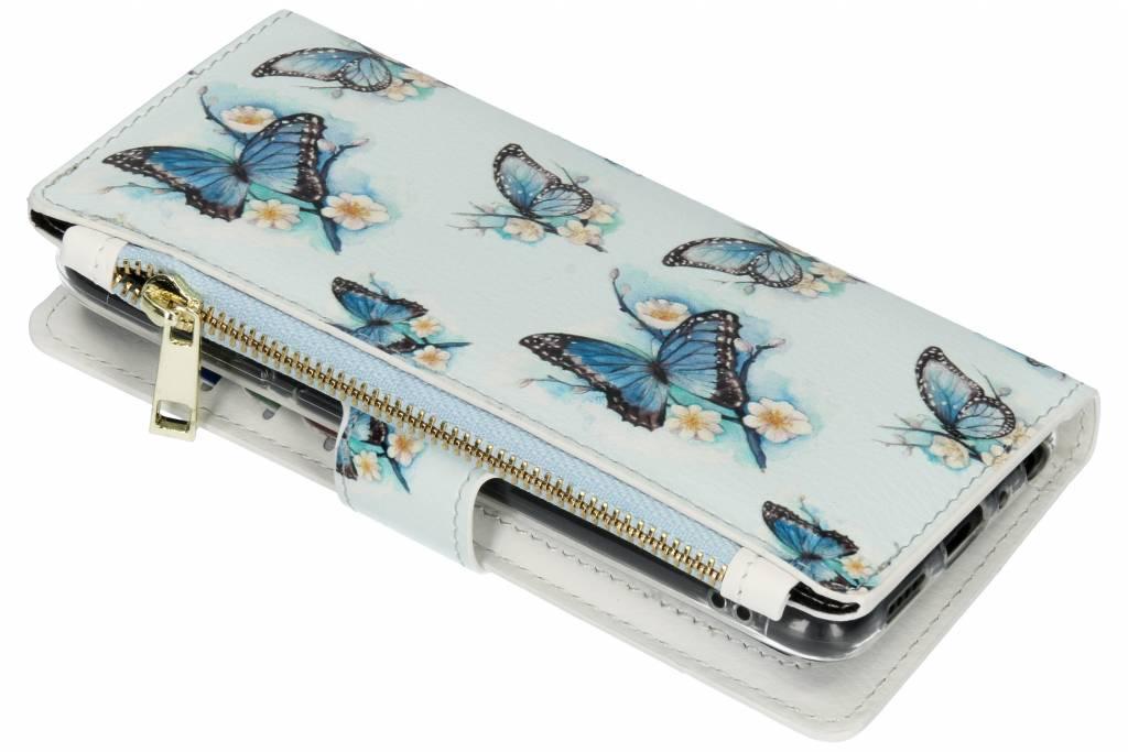 Design Luxe Portemonnee voor Huawei P Smart - Vlinders
