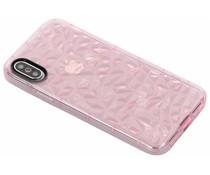 Roze geometric style siliconen case iPhone Xs / X