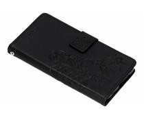 Zwart klavertje bloemen booktype hoes Nokia 6.1 Plus