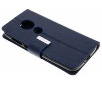 Donkerblauw Booktype hoes Motorola Moto E5 Play