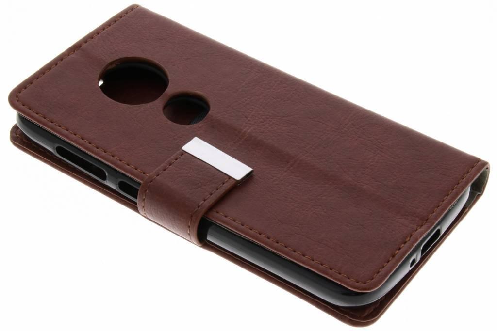 Basic Booktype voor Motorola Moto E5 Play - Bruin