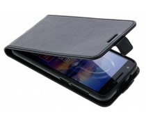 Zwart Lederen flipcase Alcatel U5 HD
