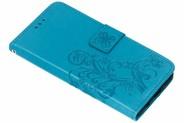 Klavertje Bloemen Booktype voor Huawei Nova 3 - Turquoise