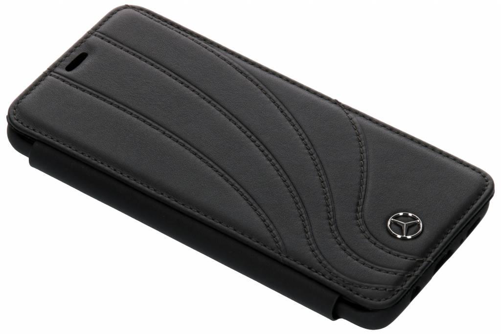 Zwarte Real Leather Booktype Case voor de Samsung Galaxy S9 Plus
