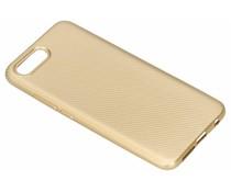 Goud carbon siliconen hoesje Honor 10