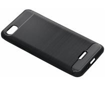 Zwart Brushed TPU case Xiaomi Redmi 6A
