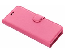 Fuchsia litchi booktype hoes Xiaomi Redmi 6A