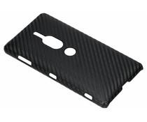 Zwart carbon look hardcase hoesje Sony Xperia XZ2 Premium