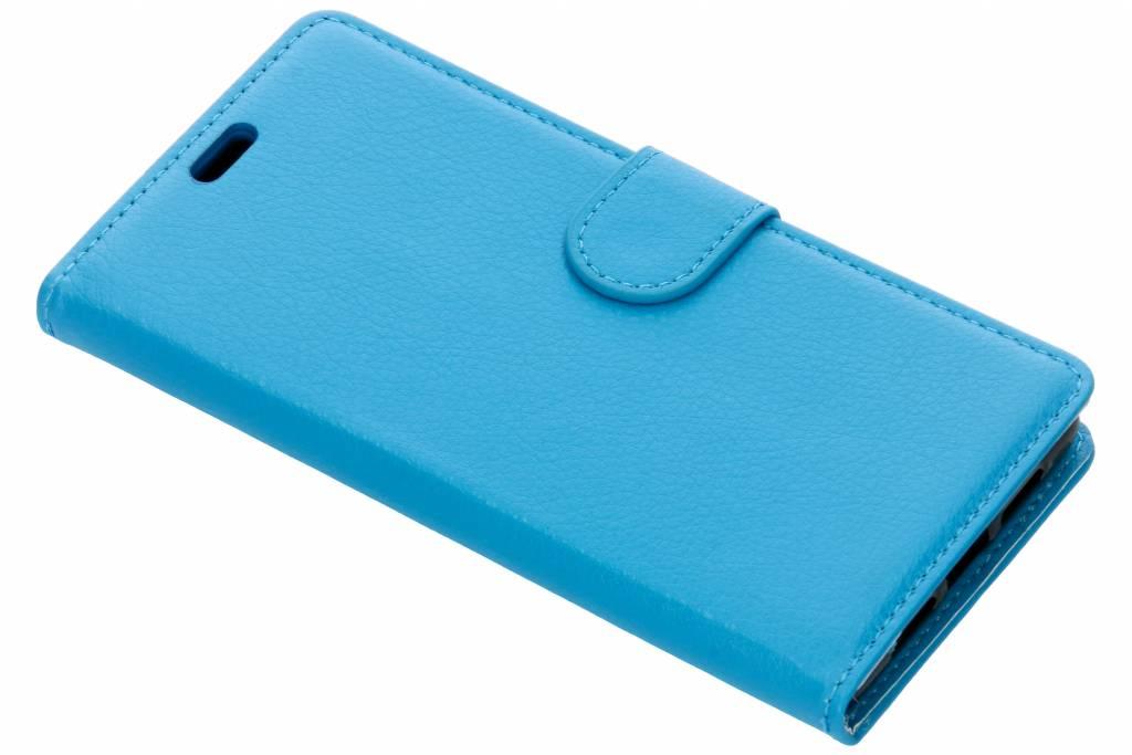 Blauwe litchi booktype hoes voor de Xiaomi Mi 8 SE