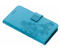 Turquoise klavertje bloemen booktype hoes Nokia 3.1