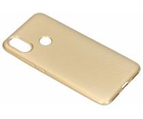 Goud carbon siliconen hoesje Xiaomi Mi A2